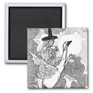 Vintage Victorian Mother Goose by Charles Robinson 2 Inch Square Magnet