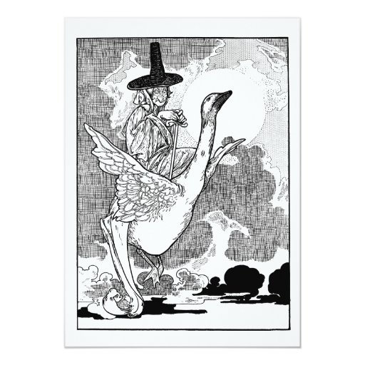 Vintage Victorian Mother Goose by Charles Robinson Personalized Invitation