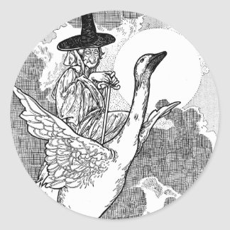 Vintage Victorian Mother Goose by Charles Robinson Sticker