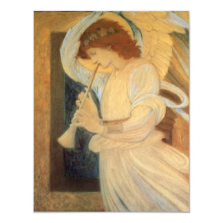 Vintage Victorian Music Angel, Christmas Party 4.25x5.5 Paper Invitation Card