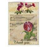 Vintage Victorian Music Romance Tulip GreetingCard Card