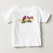 Vintage Victorian Music Romance Tulips Baby T-Shirt