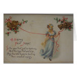 Vintage Victorian New Year's Day Card