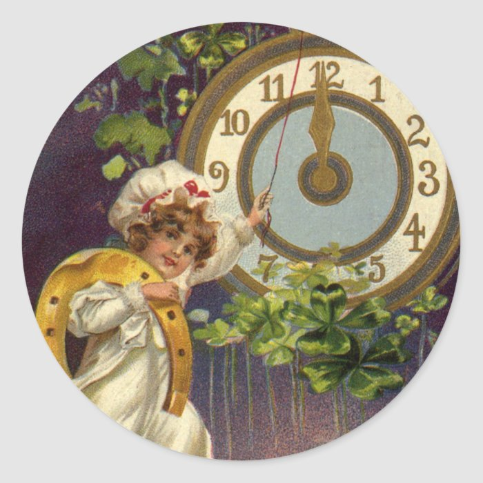 Vintage Victorian New Years Eve, Clock at Midnight Classic ...