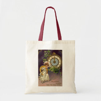 Vintage Victorian New Years Eve, Clock at Midnight Tote Bag
