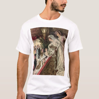 Vintage Victorian Newlywed Bride Tossing Bouquet T-Shirt