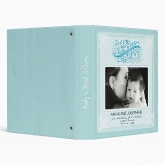 Vintage Victorian Our Baby's First Album: blue Binder