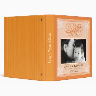 Vintage Victorian Our Baby's First Album: orange Binder