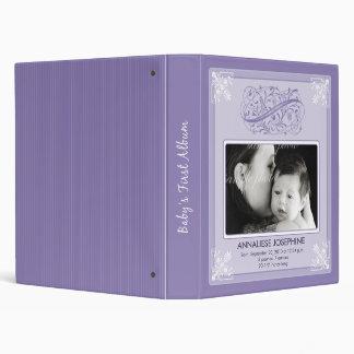 Vintage Victorian Our Baby's First Album: purple Vinyl Binder