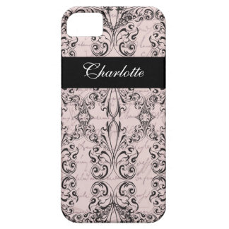 Vintage Victorian Pale Pink Elegant Personalized iPhone 5 Case