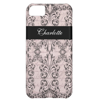 Vintage Victorian Pale Pink Elegant Personalized Cover For iPhone 5C