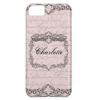 Vintage Victorian Pale Pink Elegant Personalized iPhone 5C Case