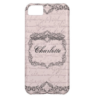 Vintage Victorian Pale Pink Elegant Personalized Case For iPhone 5C