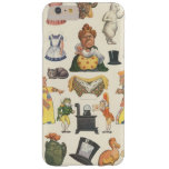 Vintage Victorian Paper Doll Toy, Alice Wonderland Barely There iPhone 6 Plus Case