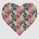 Vintage Victorian Pink Flowers Stickers