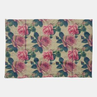 Vintage Victorian Pink Flowers Towels