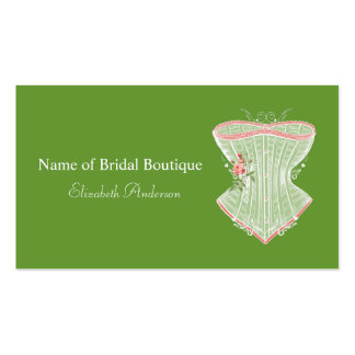 Vintage Victorian Pink Rose Corset Bridal Boutique Double-Sided Standard Business Cards (Pack Of 100)