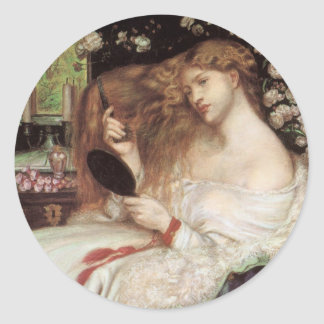 Vintage Victorian Portait, Lady Lilith by Rossetti Classic Round Sticker