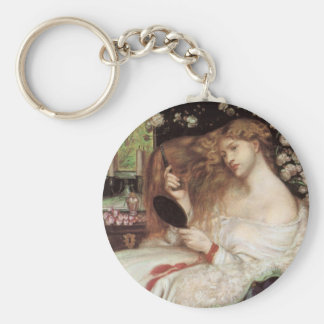 Vintage Victorian Portait, Lady Lilith by Rossetti Keychain