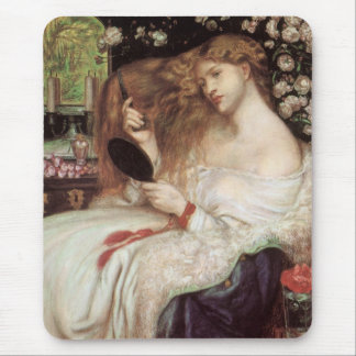 Vintage Victorian Portait, Lady Lilith by Rossetti Mouse Pad