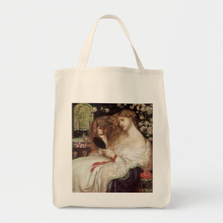 Vintage Victorian Portait, Lady Lilith by Rossetti Tote Bag
