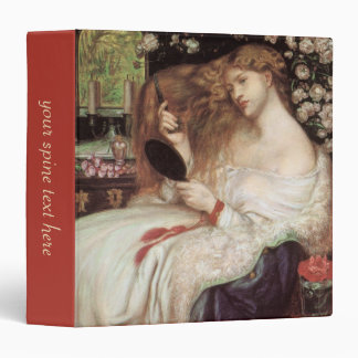 Vintage Victorian Portait, Lady Lilith by Rossetti Vinyl Binder