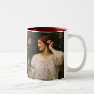 Vintage Victorian Portrait, Vanity by Waterhouse Two-Tone Coffee Mug