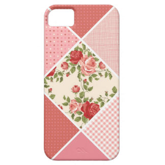 Vintage, Victorian Quilt, Pink, Rose, White iPhone SE/5/5s Case