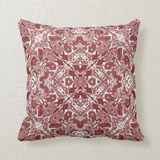 Vintage Victorian Red and White Pillow
