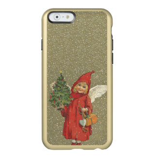 Vintage Victorian Red Christmas Child Angel Tree Incipio Feather Shine iPhone 6 Case