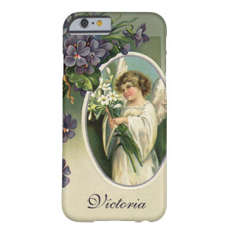 Vintage Victorian Religious Easter Angel Flowers Barely There iPhone 6 Case