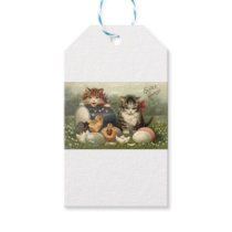 Vintage Victorian Retro Art Cats Kittens Easter Gift Tags