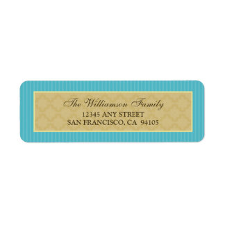 Vintage Victorian Return Address Labels (aqua)