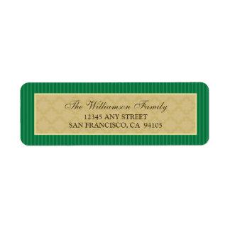 Vintage Victorian Return Address Labels (green)