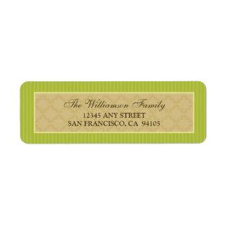 Vintage Victorian Return Address Labels (lime)
