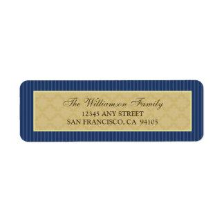 Vintage Victorian Return Address Labels (navy)