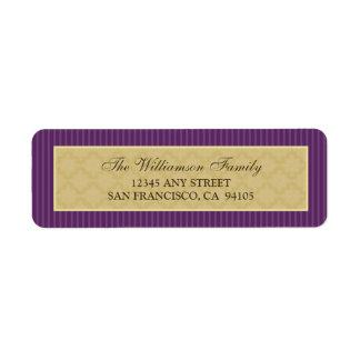 Vintage Victorian Return Address Labels (purple)