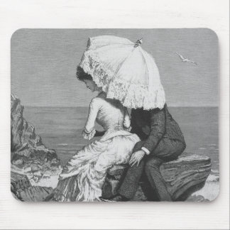 Vintage Victorian Romantic Couple by Beach Mouse Pad