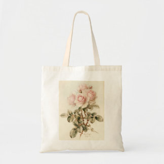 Vintage Victorian Romantic Roses Tote Bags