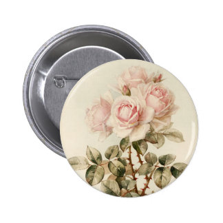 Vintage Victorian Romantic Roses Buttons