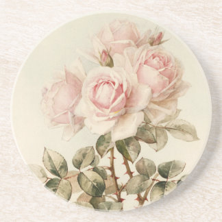 Vintage Victorian Romantic Roses Drink Coaster