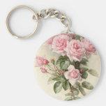 Vintage Victorian Romantic Roses Keychain