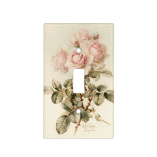 Vintage Victorian Romantic Roses Light Switch Cover