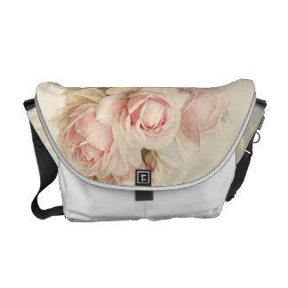 Vintage Victorian Romantic Roses Messenger Bag