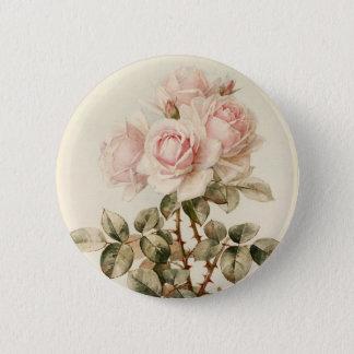 Vintage Victorian Romantic Roses Pinback Button