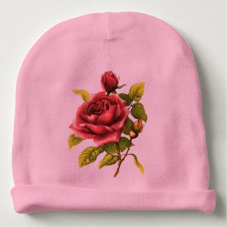 Vintage Victorian Rose Baby Beanie