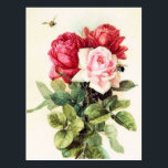 "Vintage Victorian Rose Bouquet Postcard<br><div class=""desc"">This is a gorgeous rendering of Victorian Roses painted by Paul de Longpre', a famous artist who immigrated to Hollywood during the Victorian era. He developed an absolutely gorgeous garden retreat of flowers where he created some very popular paintings of the time. I have cleaned up the painting while still...</div>"