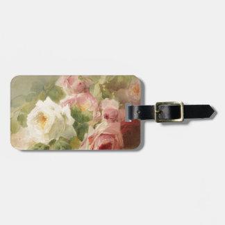 Vintage Victorian Rose Watercolor Bag Tag