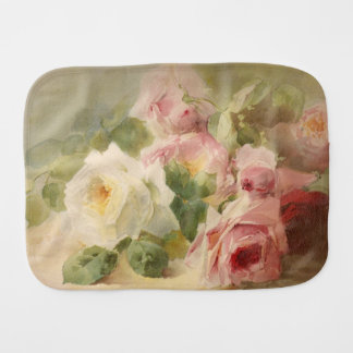 Vintage Victorian Rose Watercolor Burp Cloth