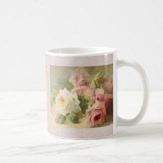 Vintage Victorian Rose Watercolor Coffee Mug